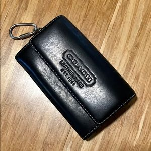 Coach Wallet Black W/Attached Key Fob